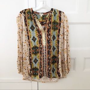 Anthropologie Tiny Sequin Tunic Top